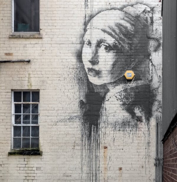 The Girl with a Pearl Earring by Banksy