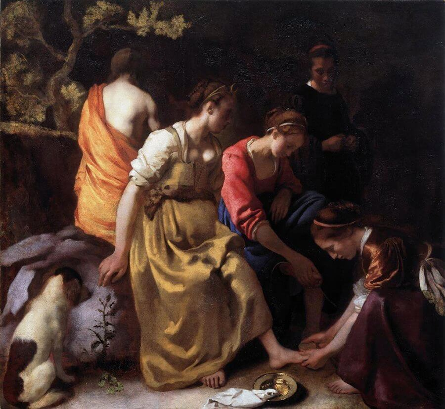 Diana and her Companions, 1653 - by Johannes Vermeer
