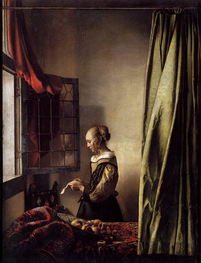 Girl Reading a Letter at an Open Window, 1657 by Johannes Vermeer