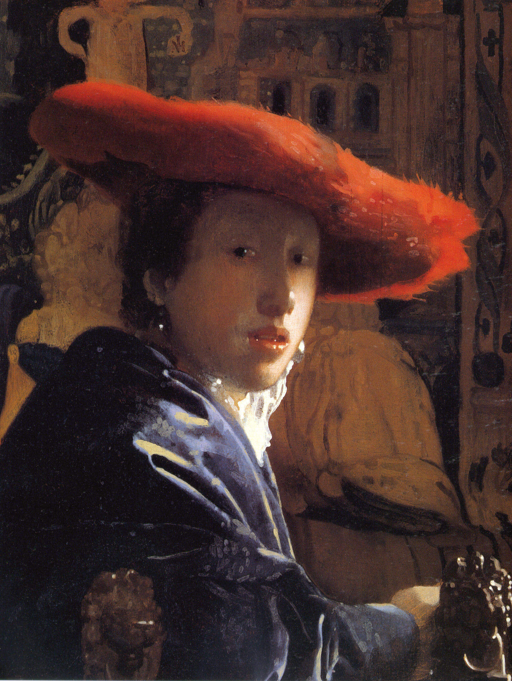 Girl with a Red Hat, 1665 by Johannes Vermeer