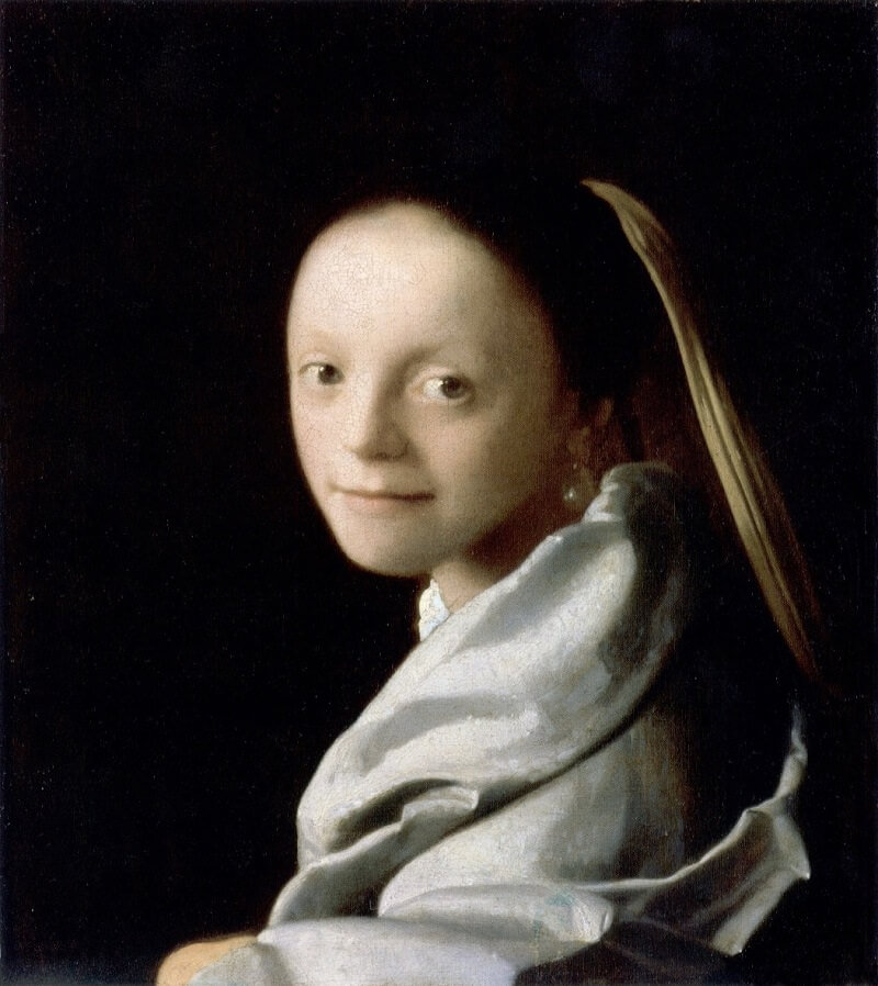 Study of a Young Woman, 1665 by Johannes Vermeer