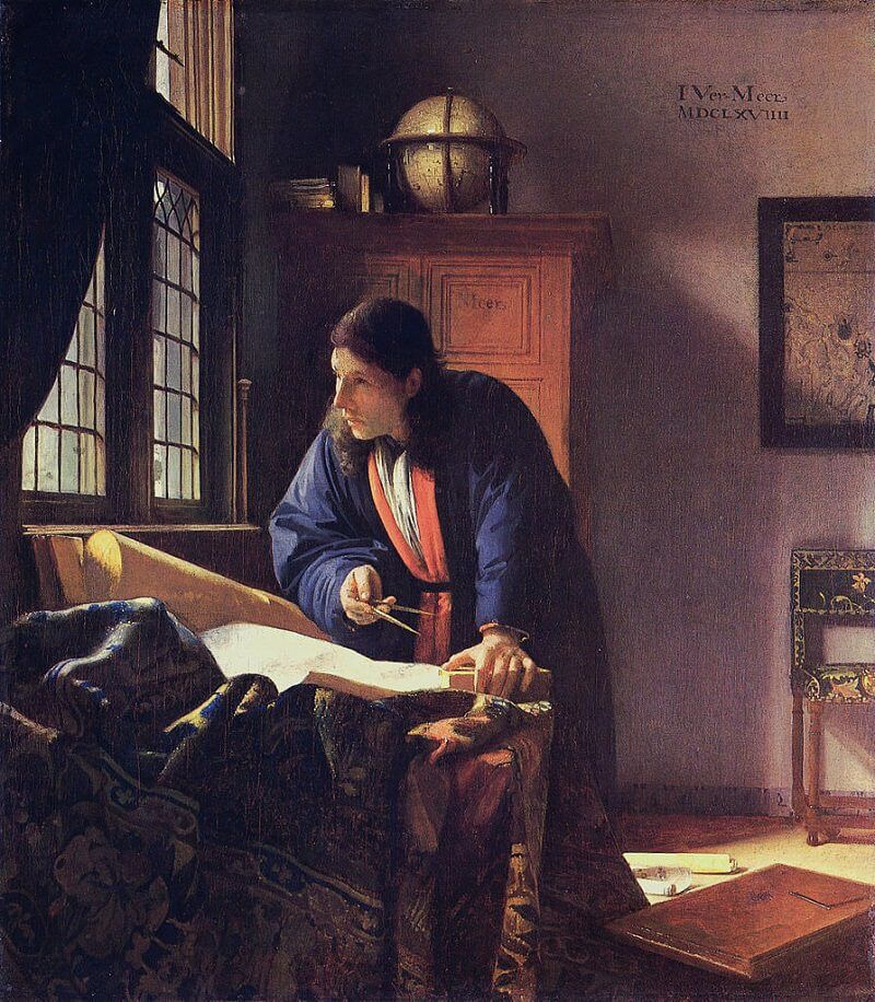 The Geographer, 1667 by Johannes Vermeer