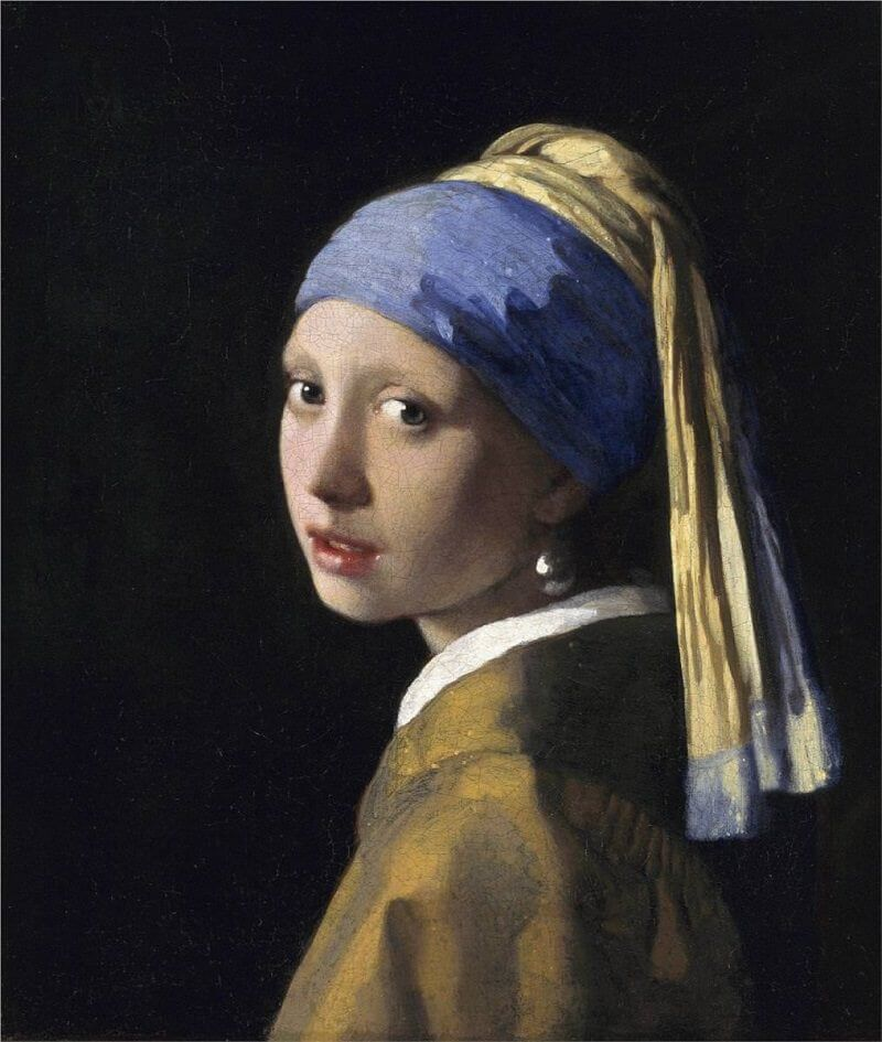 The Girl with a Pearl Earring, 1665 by Johannes Vermeer