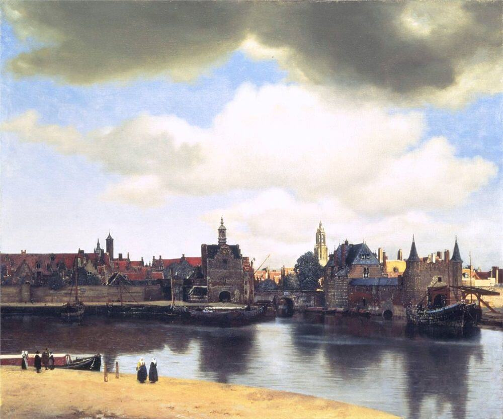 View of Delft, 1660 by Johannes Vermeer
