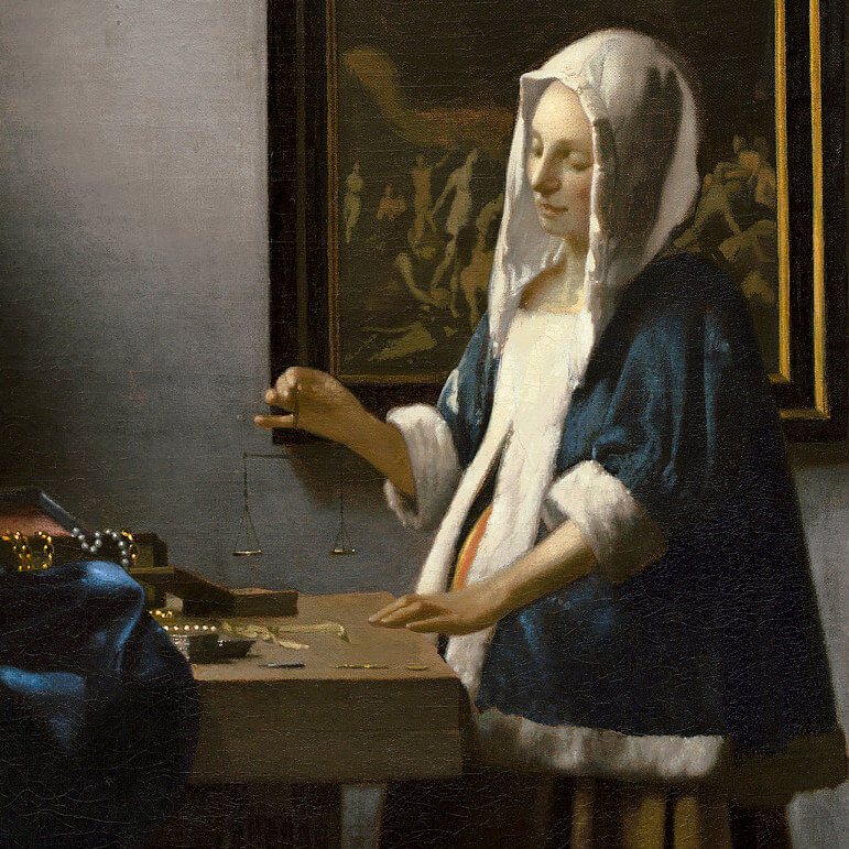 Woman Holding a Balance, 1662 by Johannes Vermeer