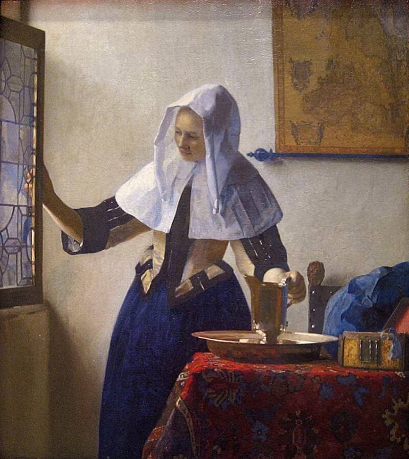 Woman with a Water Jug, 1664 by Johannes Vermeer