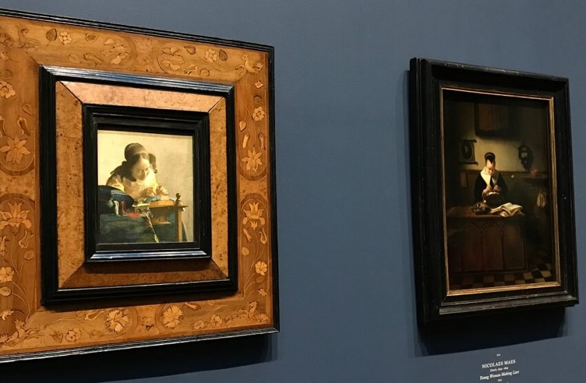 Photo of The Lacemaker by Johannes Vermeer
